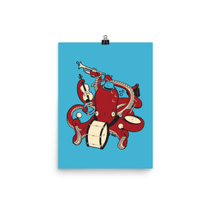 Load image into Gallery viewer, Octopus Band Poster