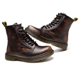 High-Top Laced Bella Boots Brown Fade