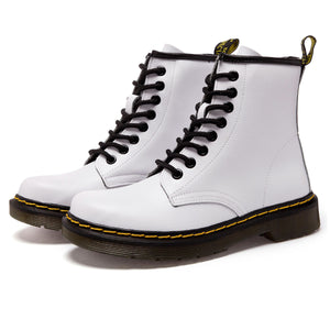 High-Top Laced Bella Boots White