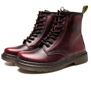 High-Top Laced Bella Boots Red fade