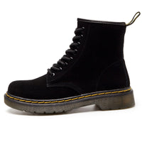 Tokio Suede Laced Bella Boot Black