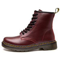 High-Top Laced Bella Boots Cherry