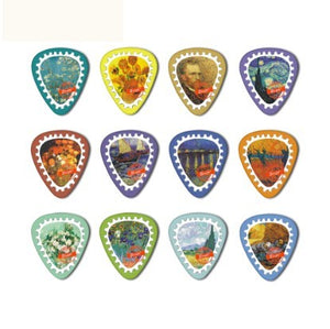 10 piecs Van Gogh stamps Guitar Picks - Art Store