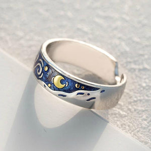 The Starry Night Couple Rings - Art Store