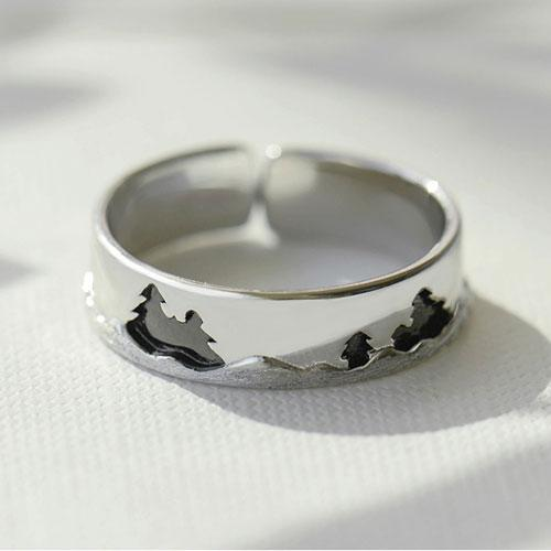 Moonlight Forest Couple Rings - Art Store
