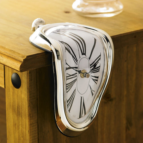 Novelty Surrealist Style Distorted Melting Wall Clock - Art Store