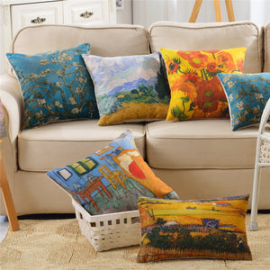 Van Gogh Paintings Inspired Pillow Case