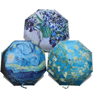 Van Gogh Oil Paintings Pattern Umbrella - Art Store