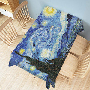 Van Gogh Artworks Linen Tablecloth