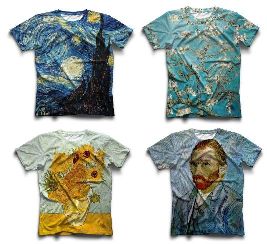 Van Gogh Inspired High Quality Unisex 3D Printed T-Shirts