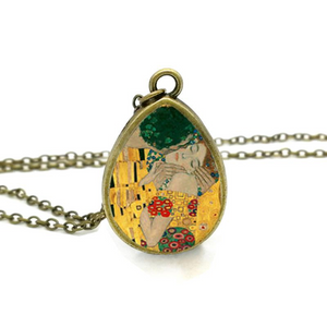 Klimt's paintings Inspired Tear Drop Shape Pendants - Art Store