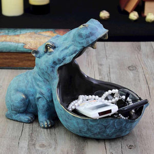 Functional Decor Hippo Figurine