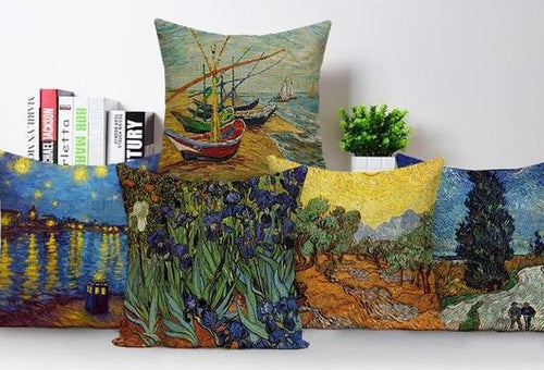 Colorful Impressionist Style Oil Painting Cushion Covers - Art Store