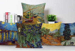 Colorful Impressionist Style Cushion Covers - Art Store
