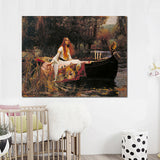 John William Waterhouse 'The Lady of Shalott' Wall Art Print