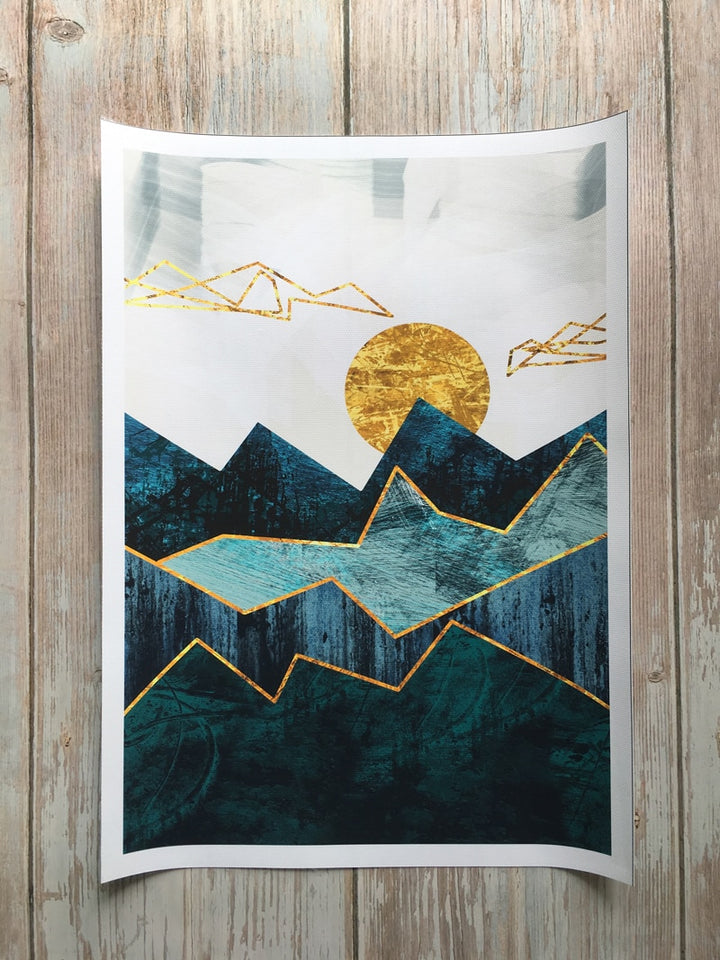 Geometric Mountain Landscape Wall Art - Art Store