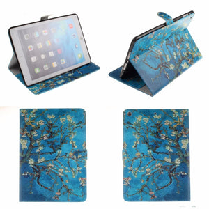 Almond Blossom Inspired Flip PU Leather Case Apple iPad - Art Store