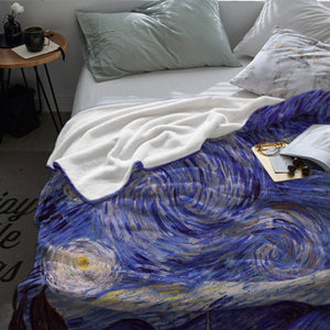 'The Starry Night' Flannel Fleece Throw Blanket - Art Store