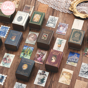 Vintage Style Mini stamps Box 100 Pieces - Art Store