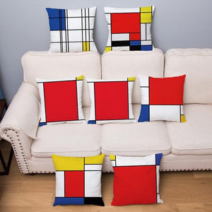 Piet Mondrian Decorative Pillow Case