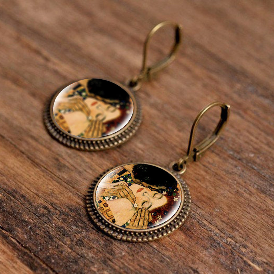 Famous Art Paintings Inspired round Earrings - Art Store
