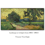Van Gogh 'Landscape at twilight' Wall Art - Art Store