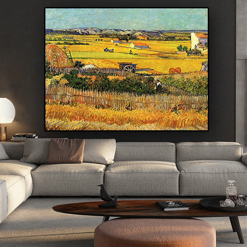 Van Gogh 'The Harvest' Wall Art - Art Store