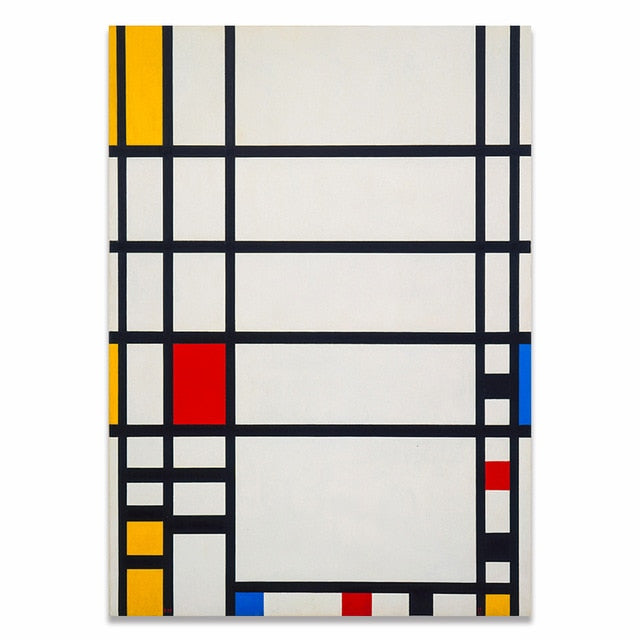 Piet Mondrian Artworks Wall Art Prints