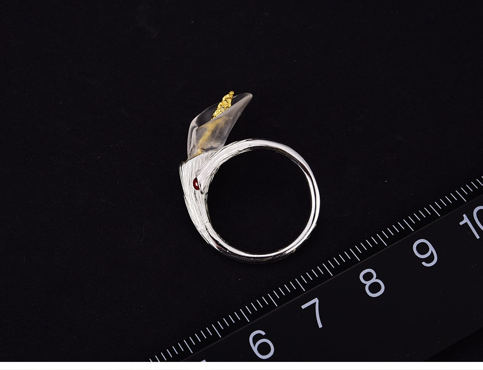 Calla Lily Flower Ring