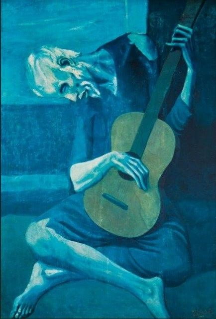 Pablo Picasso 'The Old Guitarist' Wall Art Print