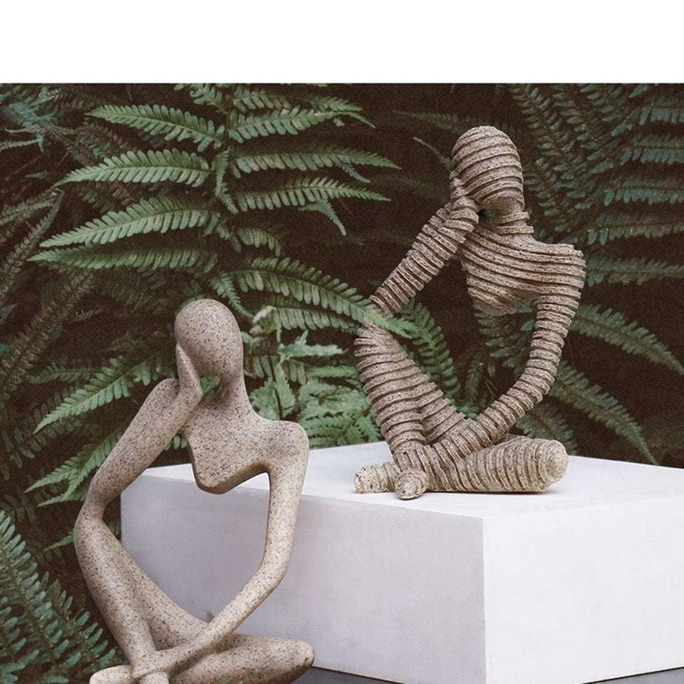 Abstract Thinkers Sculptures