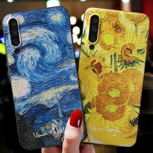 Embossed Starry Night + Sunflower Cases for Samsung - Art Store