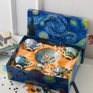 Van Gogh Series Coffee Set with Gift Box - Art Store