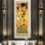 Klimt 'The kiss' Large Banner Wall Art Print