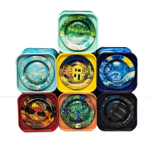 Van Gogh Artwork Mini Tea Canisters Set of 7
