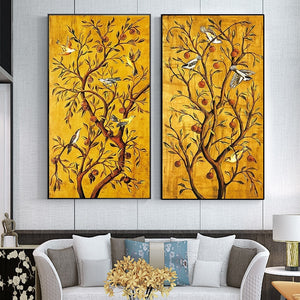 Fortune Tree and Birds Wall Art Print