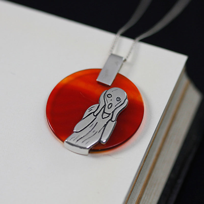 The Scream Agate Pendant