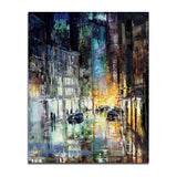 Impressionist 'Night in the City' Wall Art Print