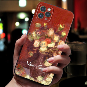 Embossed 3D Van Gogh Artwork Cases