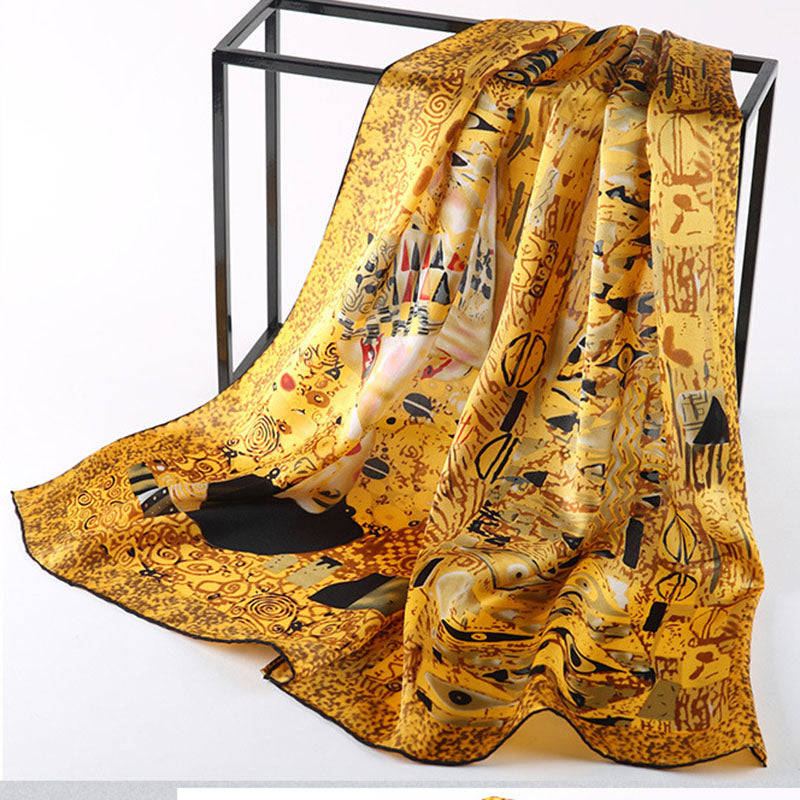 Silk Scarf Inspired Famous Oil Painting - Art Store