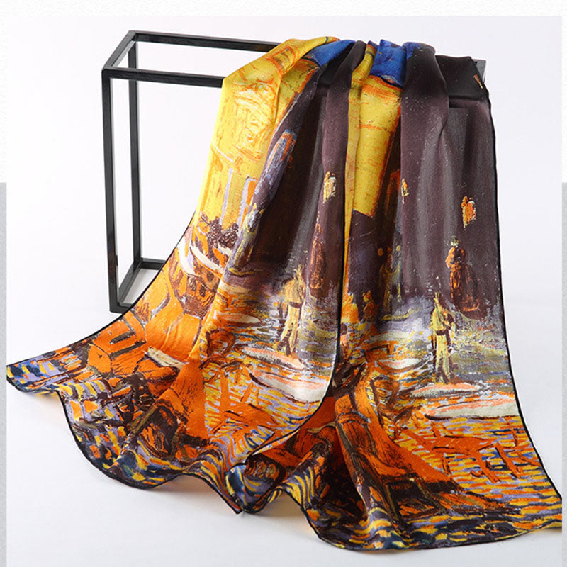 Famous Oil Paintings Inspired Silk Scarves - Art Store