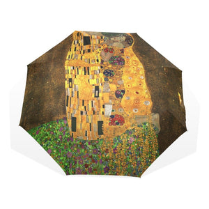 Gustav Klimt 'The Kiss' Automatic Umbrella - Art Store