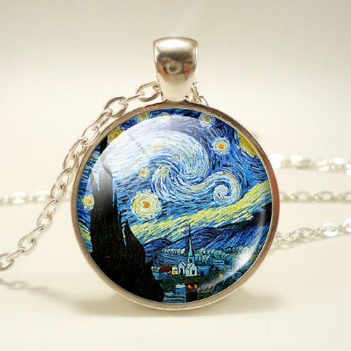 Vincent van Gogh Inspired Vintage Pendant Necklace - Art Store