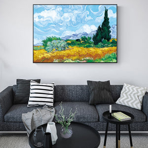 Van Gogh 'Wheatfield With Cypresses' Wall Art - Art Store