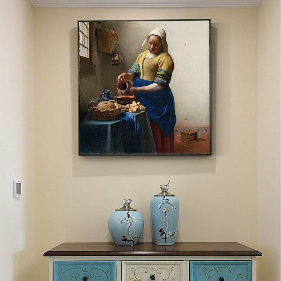 "Johannes Vermeer ""The Milkmaid"" Wall Art - Art Store"