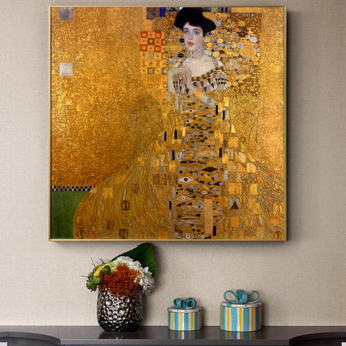 Gustav Klimt 'Portrait Of Adele Bloch' Wall Art