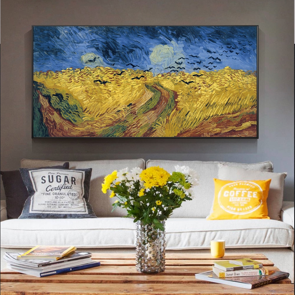 Van Gogh 'Wheatfield With Crows' Wall Art - Art Store