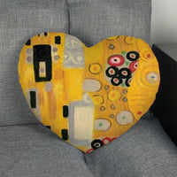 Gustav Klimt Artworks Heart Shape Pillow Cover - Art Store