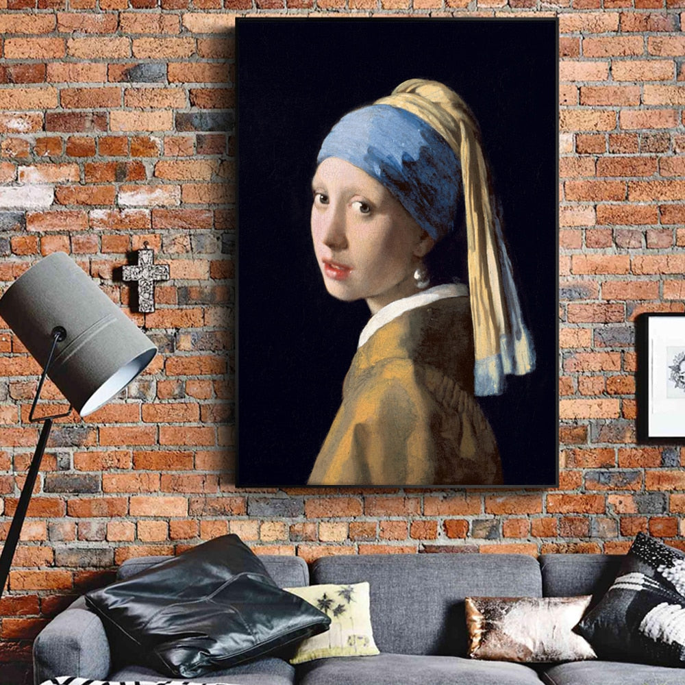 Johannes Vermeer 'Girl With a Pearl Earring' Wall Art - Art Store