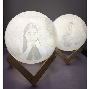 Personalized, Customized 3D Moon Lamp - Art Store